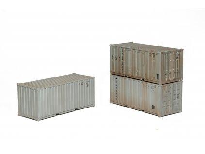 H0 -  Kontejnery ISO 1C Intrans, stavebnice, 3ks / SDV Model 1092