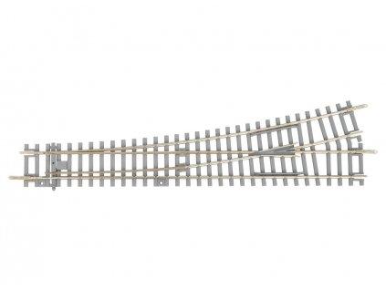 H0 - Výhybka levá WL 15° s betonovými pražci / PIKO 55170
