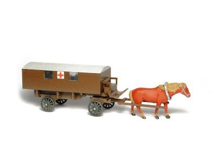 H0 - Zápřahový sanitní vůz / SDV MODEL 441