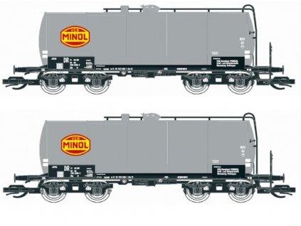 TT - set dvou kotlových vozů Uerdinger, šedá MINOL / KUEHN 51522