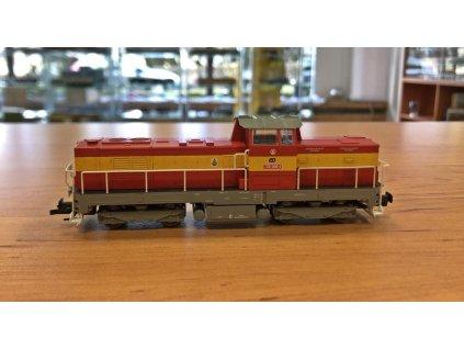 ARCHIV TT - dieselová lokomotiva 735 098 ČD Pielstick, žlutý pruh / MTB 735 098