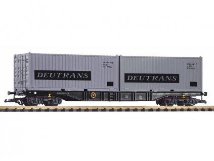 G - Plošinový vůz ložený kontejnery DEUTRANS, DR / PIKO 37752