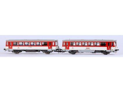 H0 - DCC/ZVUK motorový vůz 810 159-4 a přípojný vůz Baafx010 ZSSK Blonski / Roco 70383