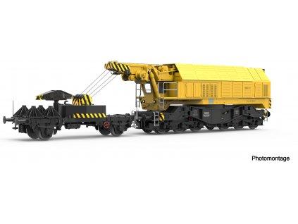 H0 - DCC železniční jeřáb EDK 750 DB / Roco 73035