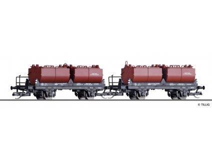 TT - set  dvou nákladních vozů PKP na vápno Ep. IV / Tillig 01009