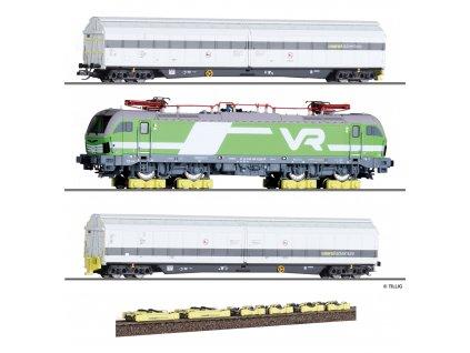 TT - transport lokomotivy Rail Adventure, 2x vozy Habfis, Vectron bez pohonu, pojezdy Loco Buggy / Tillig 01012