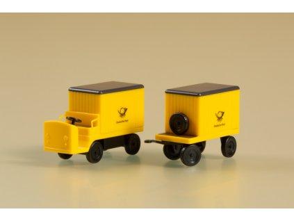 TT - Elektrický poštovní vozík s přívěsem  / Auhagen 43663
