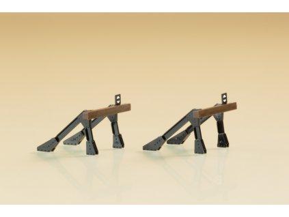 TT - zarážedlo z kovu na kusou kolej - 2 ks / Auhagen 43668