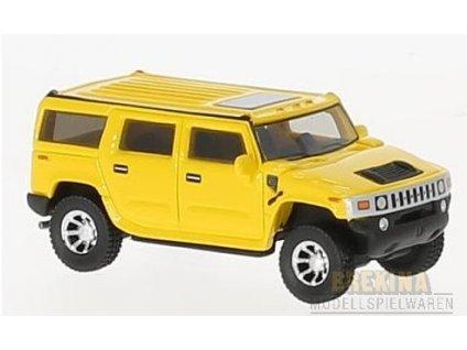 H0 - auto Hummer H2 gelb, / Brekina BOS87451