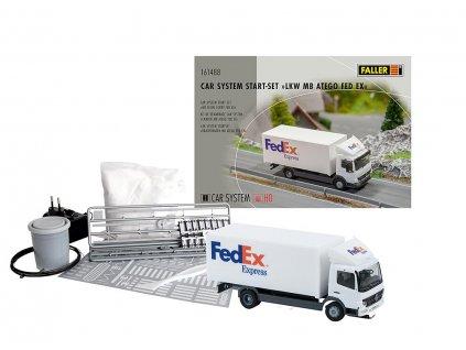 H0 - Start set Faller Car System - nákladní auto MB »FedEx« / FALLER 161488