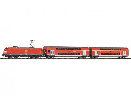 H0 - DCC Start set  - patrový osobní vlak s lokomotivou DB BR 146 / PIKO 59023