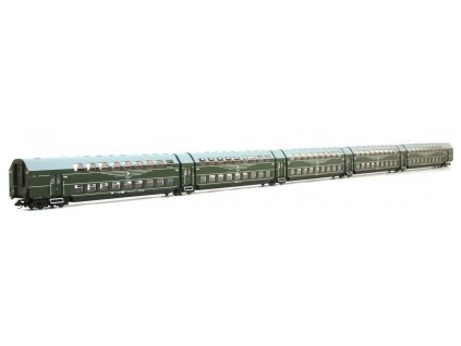 445364 tt dcc 5 dilna patrova osobni vozova souprava dgb 12 dr ep iv kres 1959d
