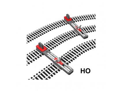 H0 -  držáky flexikolejí pro pokládání paralelní tratě, nastavitelné / Proses PPT-HO-01