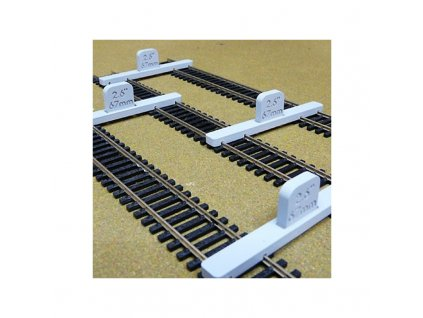 H0 -  držáky flexikolejí pro pokládání paralelní tratě, nastavitelné 4 x 67mm / Proses PPT-HO-02
