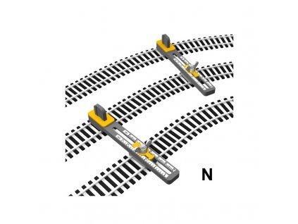 N -  držáky flexikolejí pro pokládání paralelní tratě, nastavitelné / Proses PPT-N-01