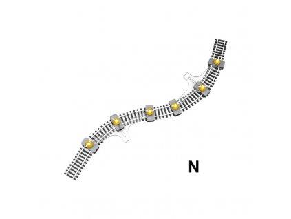 N - držák flexikolejí pro zafixování při pokládání / Proses PFT-N-01