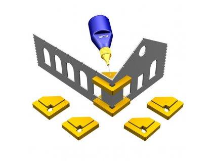 Pomůcka k lepení staveb s rohy 90° Hold & Glue (4 ks magnetických úhelníků) / Proses PPR-SS-01