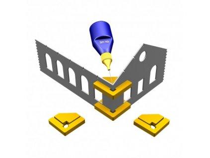 Pomůcka k lepení staveb s rohy 90° Hold & Glue (2 ks magnetických úhelníků)  / Proses PPR-SS-02