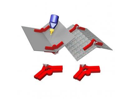 Pomůcka k lepení staveb s úhly stěn 90°-180° Hold & Glue / Proses PPR-SS-04