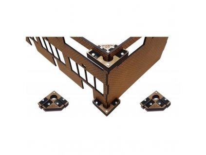 G - Pomůcka k lepení staveb Snap & Glue pro zahradní železnici (4 ks magnetických úhelníků ) / Proses PPR-SS-10