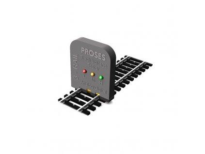 H0 - zkoušečka napětí pro 3 kolejnicový AC systém Märklin / Proses PVT-002