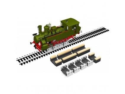H0 - čistící set na dvojkolí lokomotiv se 4 rolnami / Proses PRR-HO-04