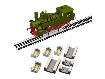 H0 - čištění koleček lokomotiv Märklin se 4 rolnami / Proses PRR-M-04