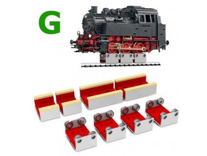 G - set na čištění dvojkolí lokomotiv se 4 rolnami / Proses PRR-G-04