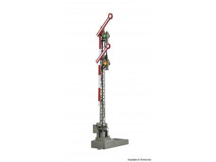 H0 - DCC mechanické návěstidlo dvouramenné / Viessmann 4701