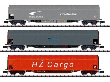 447269 1 n set 3 plachtovych vozu rilns cd cargo zssk hz trix 15116