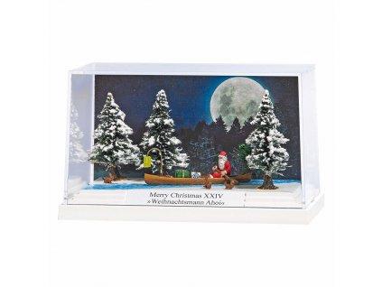 H0 - Dioráma: Vánoční Santa na kánoi XXIV / Busch 7618