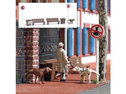 H0 - Pinkelnde Hunde  / Busch 7895