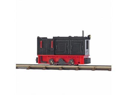 H0/H0f - průmyslová lokomotiva LKM Ns 2f, otevřená, světlo / Busch 12126