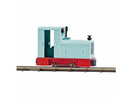 H0/H0f - průmyslová lokomotiva Deutz OMZ 122F, světlo / Busch 12136