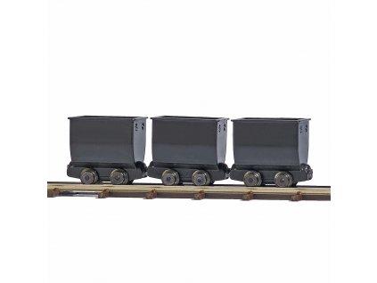 H0/H0f - důlní vozíky, 3 ks / Busch 12260