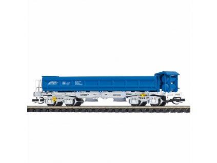 TT - výsypný vůz s výklopnými bočnicemi Fakks [6781] modrý, Freelance / Busch 31418