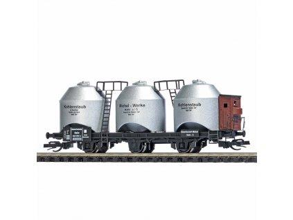 TT - vůz k přepravě uhelného prachu s brzdařskou budkou, DRG, Ep. II   / Busch 33505