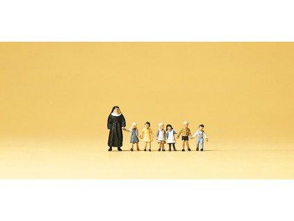 N - Jeptiška a 6 dětí / Preiser 79127