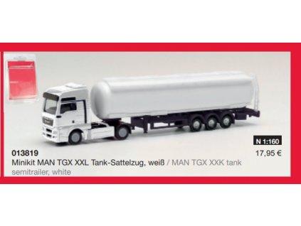 N - MiniKit - kamión MAN TGX XXL cisterna / Herpa 013819
