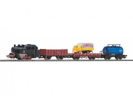 433277 h0 start set parni lokomotiva a 3 nakl vozy koleje s podlozim piko 57113