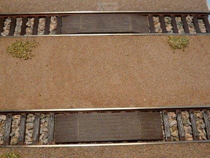 H0 - Dřevěný kolejový přechod TYP I 4 ks PATINA / Veramo H0 050111