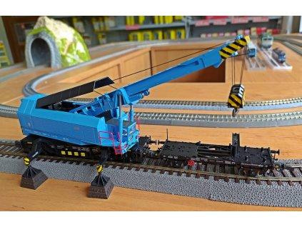 H0 - DCC/ZVUK  železniční jeřáb EDK 750 ČSD / Roco 73038