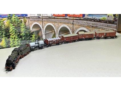 454304 n dcc parni lokomotiva g 8 2 s 5 nakladnimi vozy k p e v fleischmann 781290