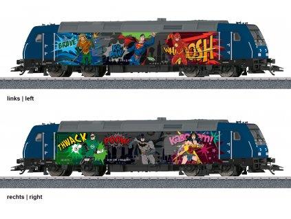 """AC DCC/SOUND H0 - diesel. lokomotiva BR 285 """"Superhrdinové"""" Märklin START UP / Marklin 36656"""