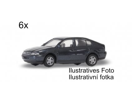H0 - Škoda Octavia Sedan 6 ks, stavebnice / Igra model 67918111