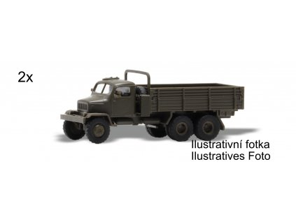 H0 - nákladní auta Praga V3S valník 2 ks KIT, stavebnice / Igra Model 66717101