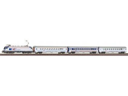 H0 - set el. lokomotiva Taurus + 3 IC vozy PKP / PIKO 97931souprava