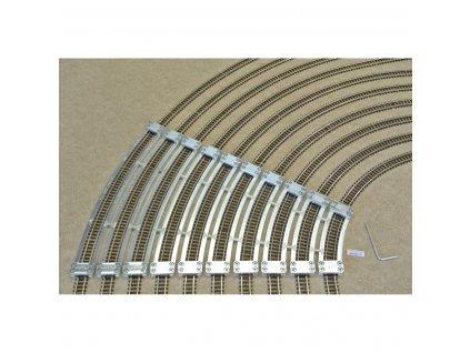 N - Šablony pro flexi koleje FLEISCHMANN, R194,6-497mm, 10ks / KaModel N/F/SET/E