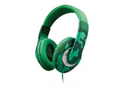 sluchátka TRUST Sonin Kids Headphone - jungle / 22203