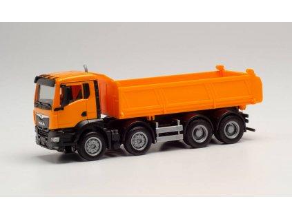 H0 - MAN TGS NN valník, oranžový  / Herpa 312837